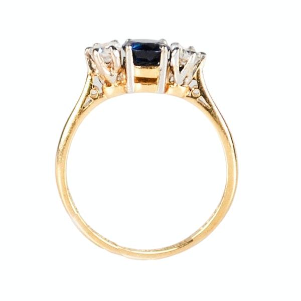 A three stone Sapphire and Diamond Ring - image 3
