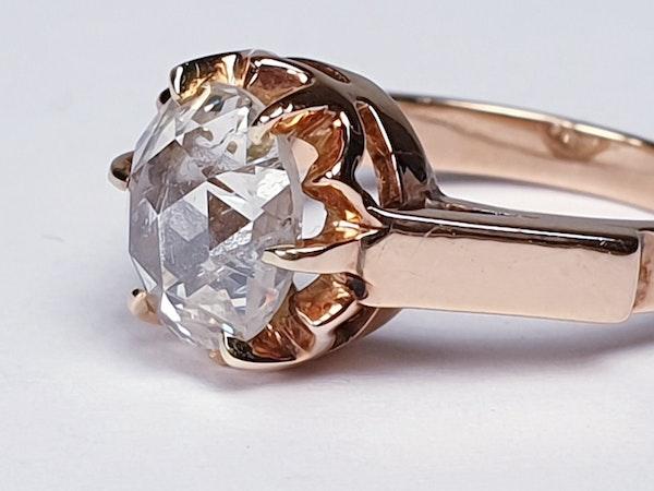 Rose Diamond Single Stone Diamond Engagement Ring DBGEMS - image 3