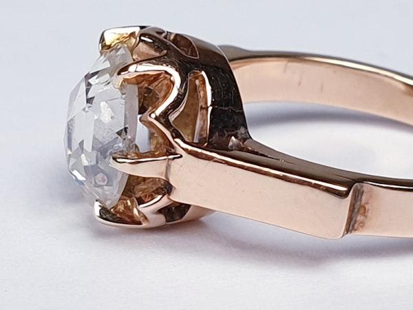 Rose Diamond Single Stone Diamond Engagement Ring DBGEMS - image 6