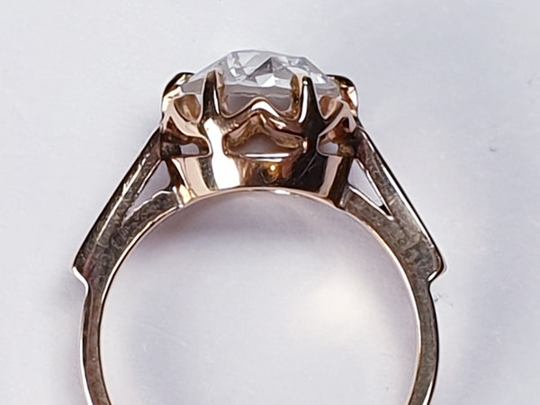 Rose Diamond Single Stone Diamond Engagement Ring DBGEMS - image 4