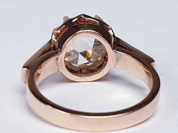 Rose Diamond Single Stone Diamond Engagement Ring DBGEMS - image 5