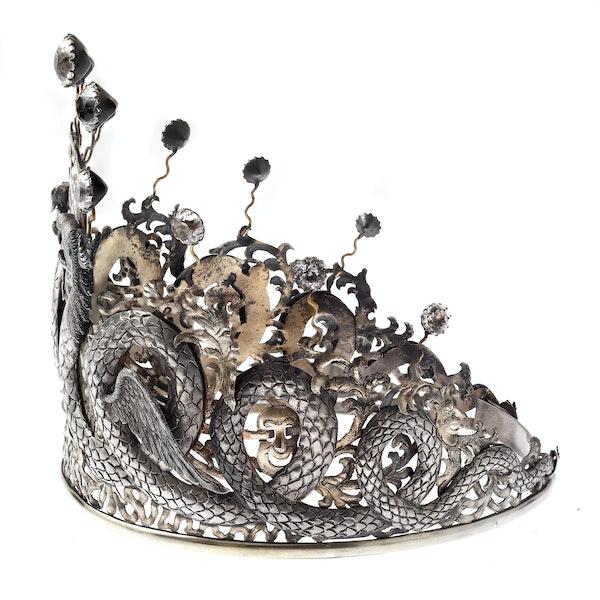 Chinese silver tiara - image 2