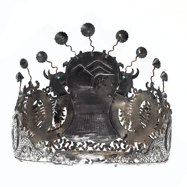 Chinese silver tiara - image 3