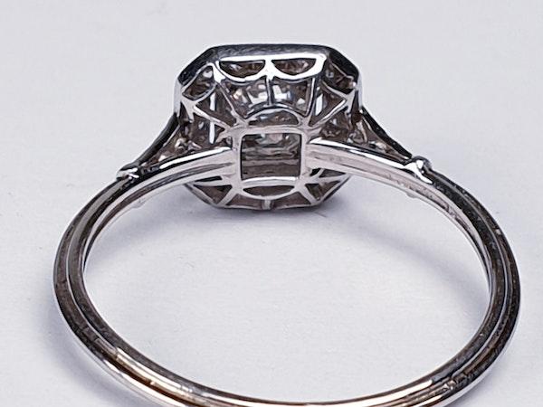 Asscher cut diamond engagement ring  DBGEMS - image 2