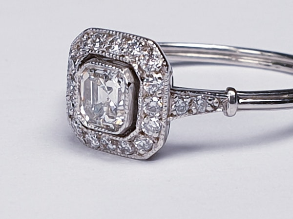 Asscher cut diamond engagement ring  DBGEMS - image 6
