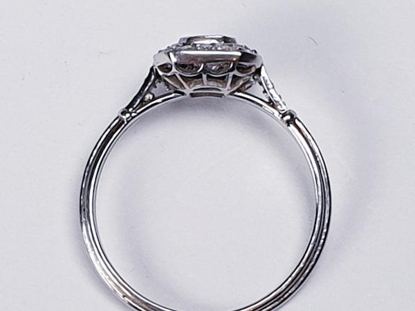 Asscher cut diamond engagement ring  DBGEMS - image 3