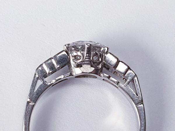 1ct art deco old European transitional cut ring  DBGEMS - image 3