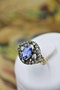 A very fine Georgian/ Victorian Sapphire & Diamond Cluster Ring in 18ct Yellow Gold & Silver. - image 1