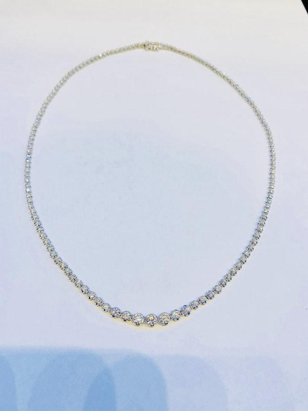 18K white gold 4.50ct Riviera Diamond Necklace - image 2