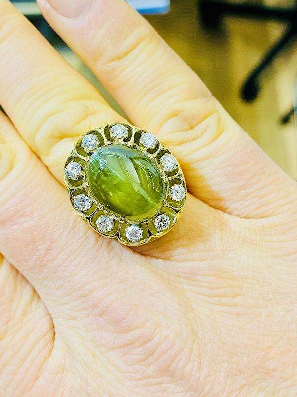 17.88ct Natural Chrysoberyl and Diamond Ring - image 3