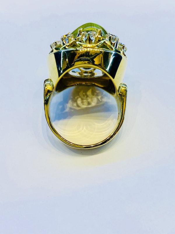 17.88ct Natural Chrysoberyl and Diamond Ring - image 5