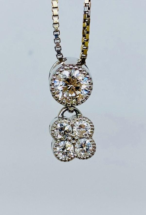 18K white gold 0.56ct Diamond Pendant - image 1