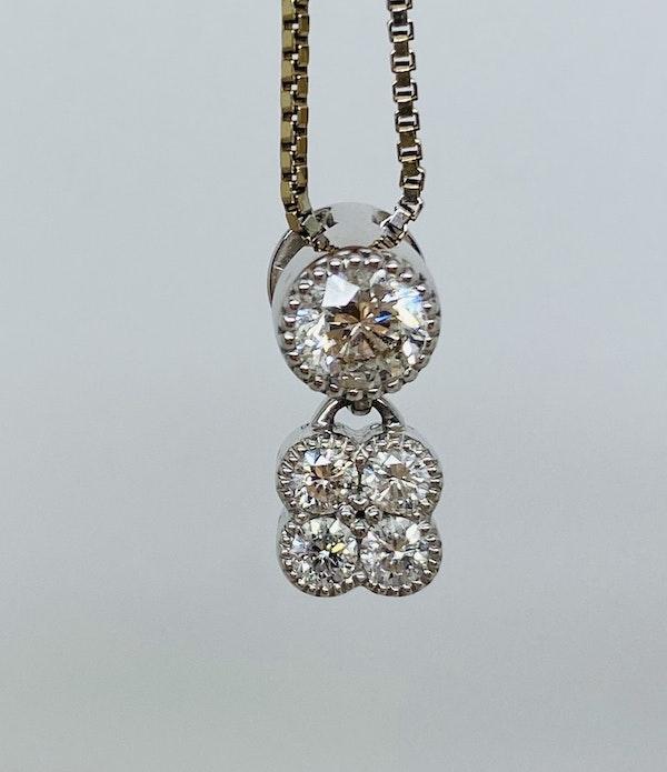 18K white gold 0.56ct Diamond Pendant - image 3