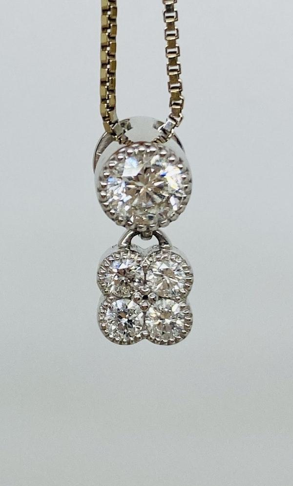 18K white gold 0.56ct Diamond Pendant - image 4