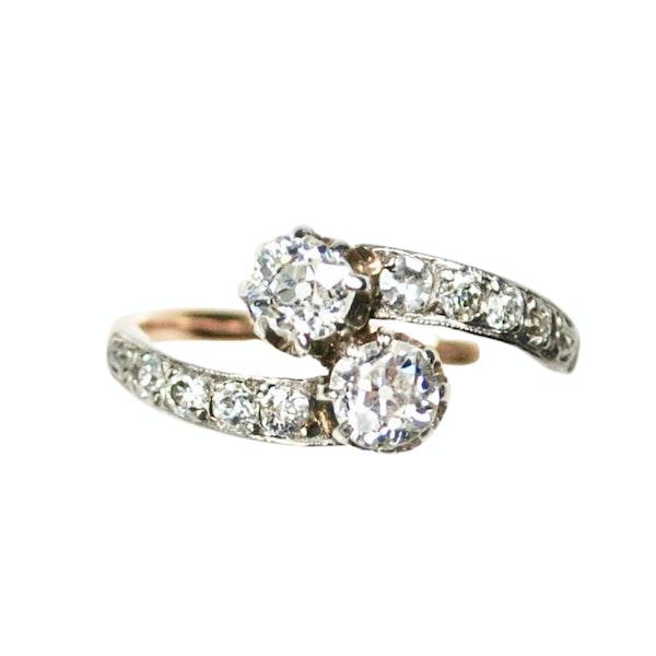 A 1900 Toi et Moi Ring - image 5