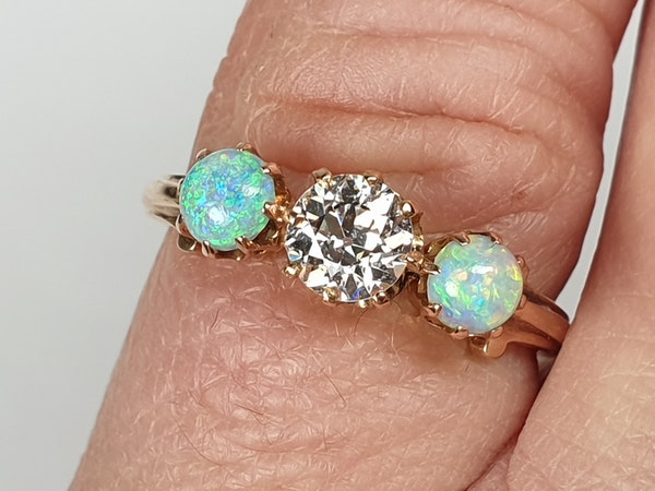 antique opal and diamond ring  DBGEMS - image 5