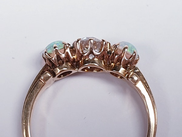 antique opal and diamond ring  DBGEMS - image 2