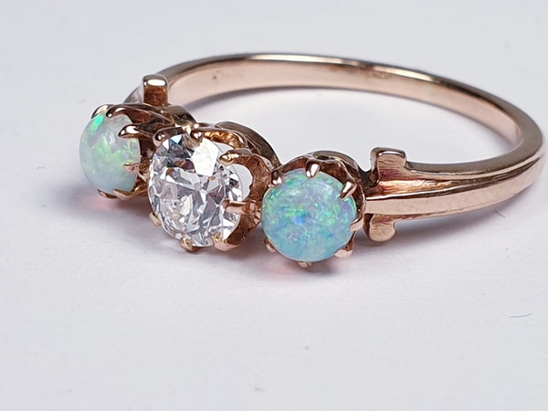 antique opal and diamond ring  DBGEMS - image 4