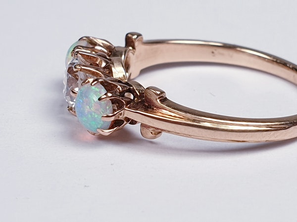 antique opal and diamond ring  DBGEMS - image 3