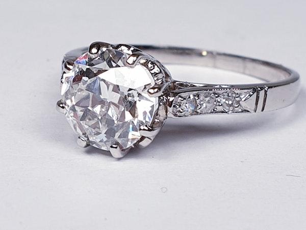1.46ct old European transitional cut diamond engagement ring  DBGEMS - image 5