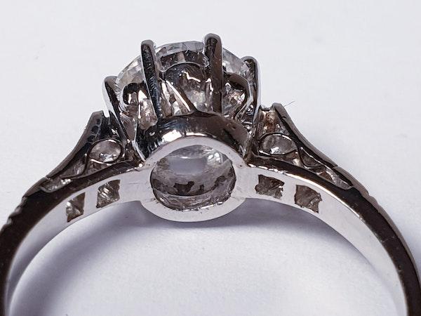 1.46ct old European transitional cut diamond engagement ring  DBGEMS - image 4