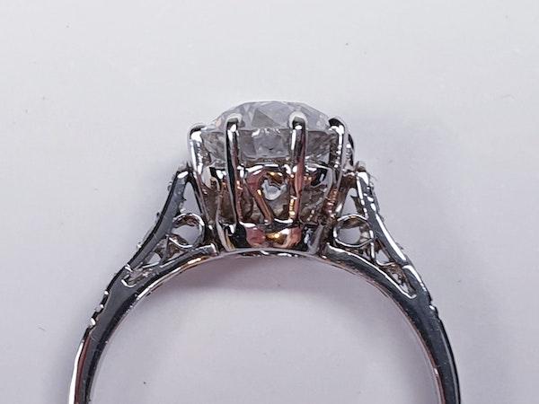1.46ct old European transitional cut diamond engagement ring  DBGEMS - image 3