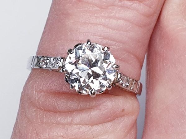 1.46ct old European transitional cut diamond engagement ring  DBGEMS - image 2