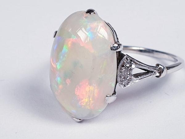 Edwardian opal and diamond dress ring  DBGEMS - image 2