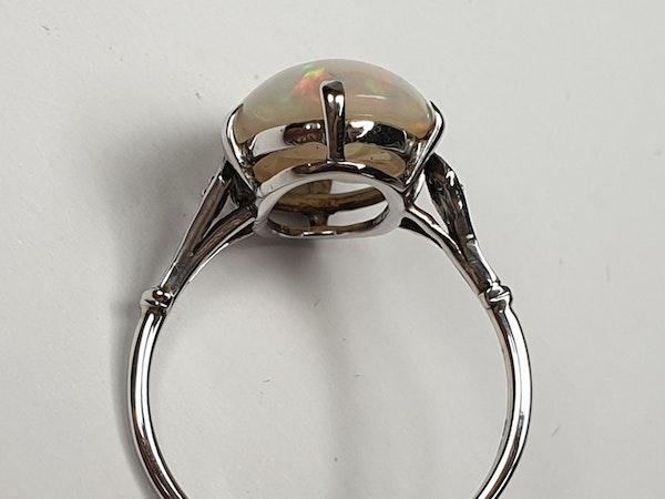 Edwardian opal and diamond dress ring  DBGEMS - image 4