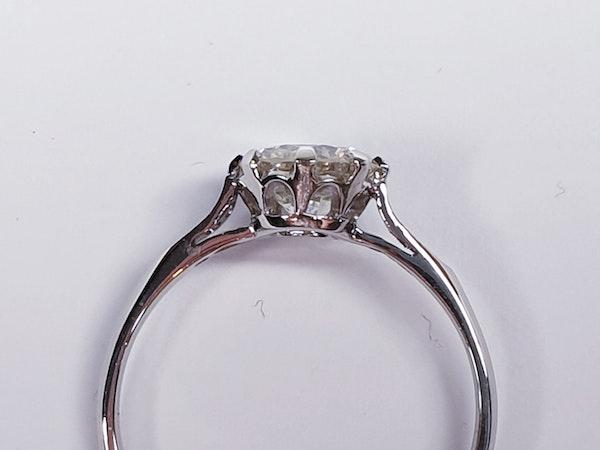 1.05ct single stone diamond engagement ring  DBGEMS - image 2