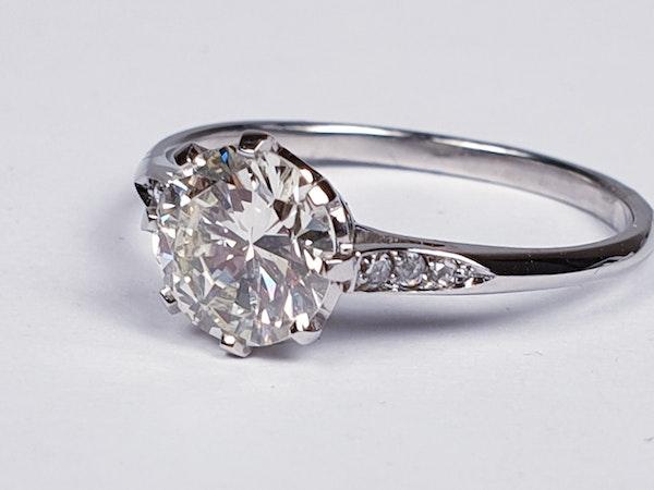 1.05ct single stone diamond engagement ring  DBGEMS - image 5