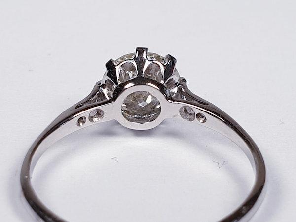 1.05ct single stone diamond engagement ring  DBGEMS - image 3