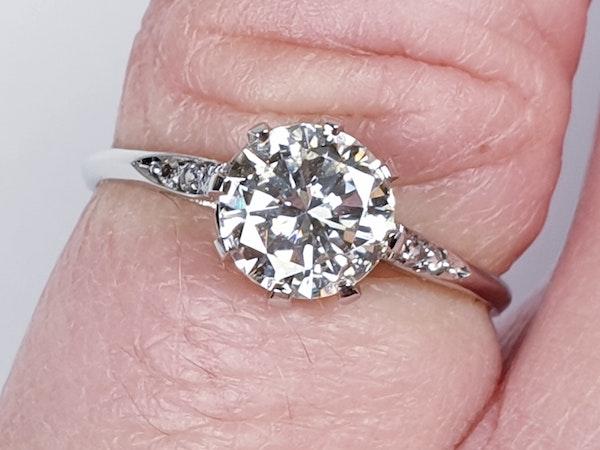1.05ct single stone diamond engagement ring  DBGEMS - image 6