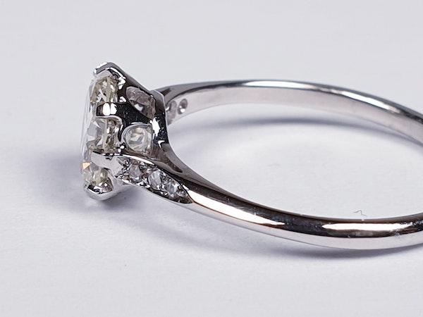 1.05ct single stone diamond engagement ring  DBGEMS - image 4
