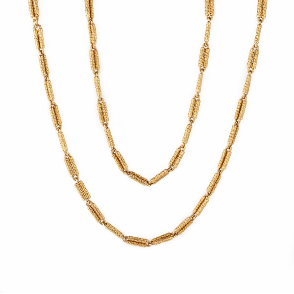 Heavy gold chain designed by Georges L'Enfant - image 2