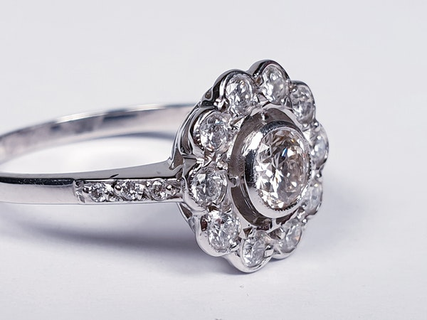 Diamond Cluster Engagement Ring  DBGEMS - image 4