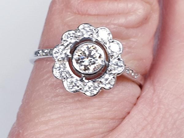 Diamond Cluster Engagement Ring  DBGEMS - image 3