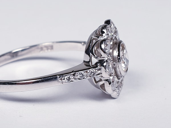 Diamond Cluster Engagement Ring  DBGEMS - image 5