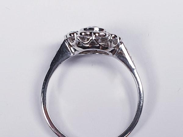 Diamond Cluster Engagement Ring  DBGEMS - image 2