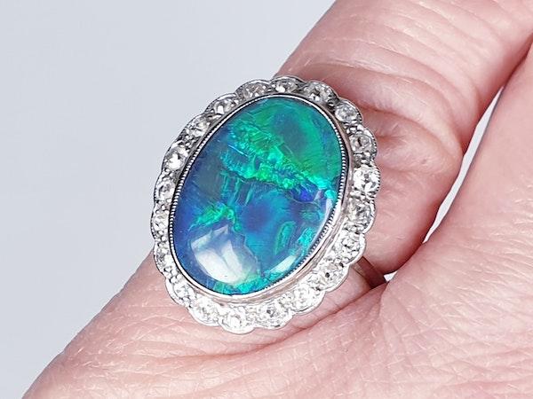 Black opal and diamond dress ring  DBGEMS - image 5