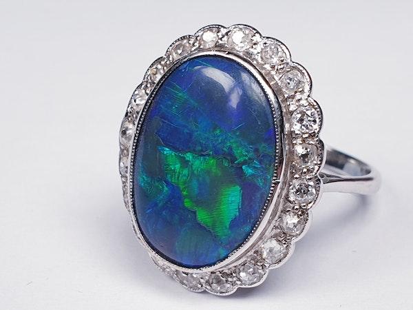 Black opal and diamond dress ring  DBGEMS - image 3