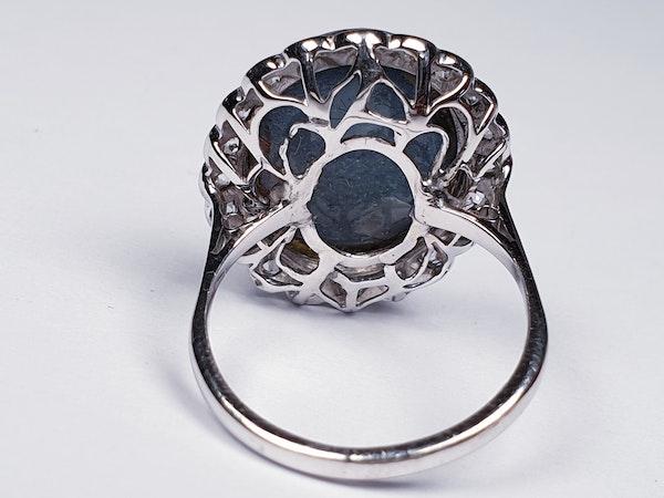 Black opal and diamond dress ring  DBGEMS - image 4