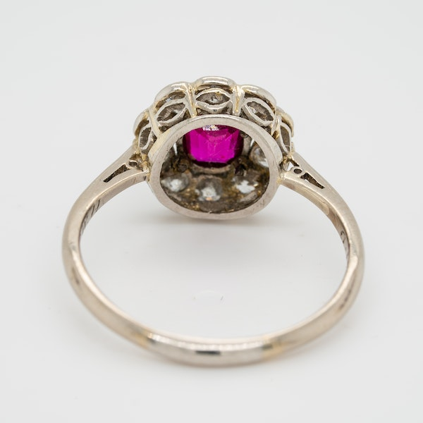 Edwardian ruby and diamond cluster ring - image 4