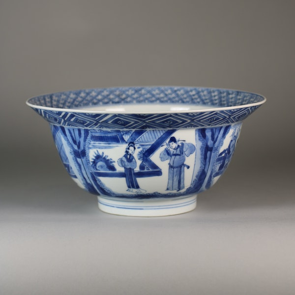 Chinese blue and white klapmutz bowl - image 3