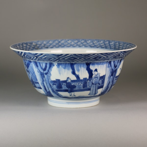 Chinese blue and white klapmutz bowl - image 5