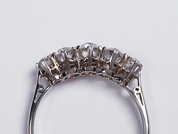 Art Deco Five Stone Diamond Ring  DBGEMS - image 5