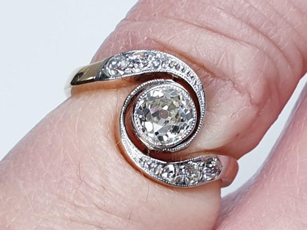 Edwardian Diamond Engagement Ring  DBGEMS - image 5