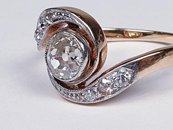 Edwardian Diamond Engagement Ring  DBGEMS - image 2