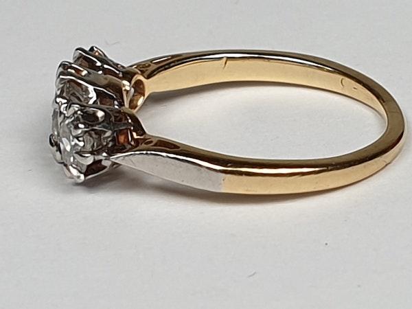 Victorian Old Cut Diamond Three Stone Diamond Ring  DBGEMS - image 2