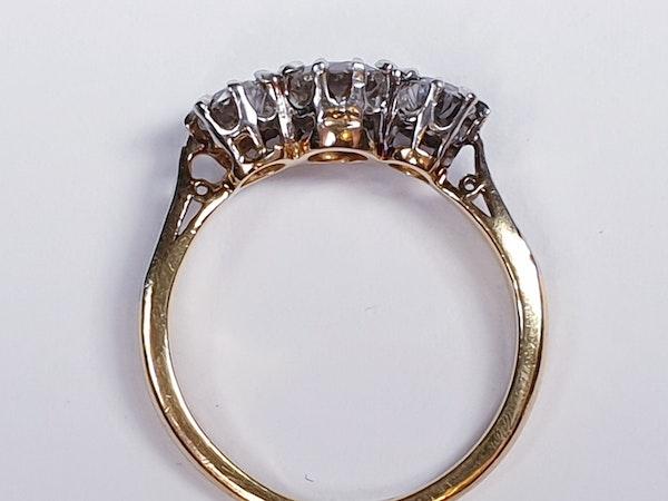 Victorian Old Cut Diamond Three Stone Diamond Ring  DBGEMS - image 5